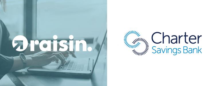 Raisin UK adds Charter Savings Bank to its Savings Service